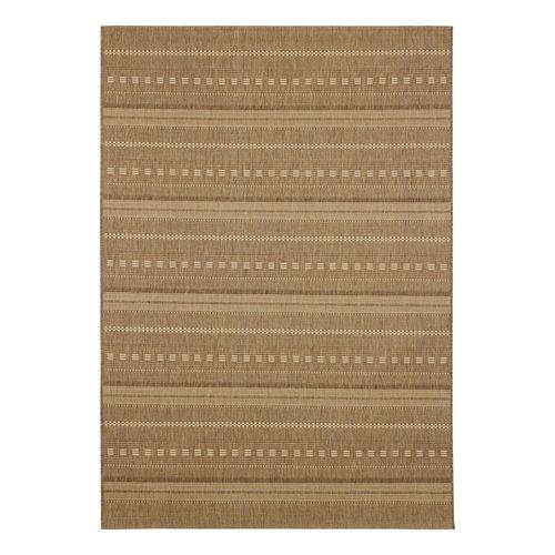 Carpet Flatwoven Rug striped ethnic Andria brown beige online kaufen