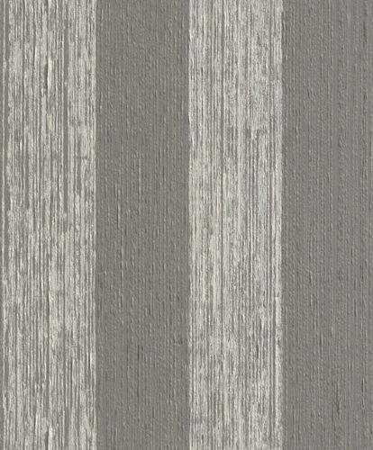Wallpaper striped Rasch Textil Paper Yarn grey 077772