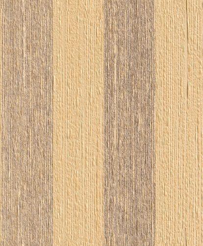 Wallpaper striped Rasch Textil Paper Yarn yellow 077802