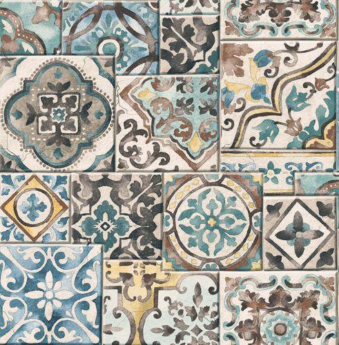 Vliestapete Kacheln Vintage Rasch Textil bunt 022315 online kaufen