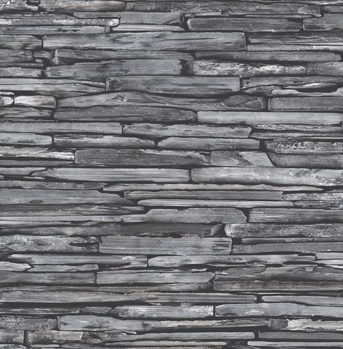 Wallpaper stone optic wall anthracite 022352 buy online