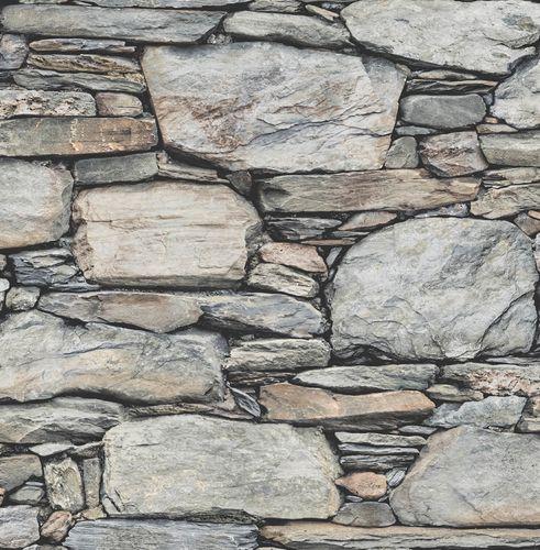 Wallpaper wall stone optic World Wide Walls grey 022304 buy online