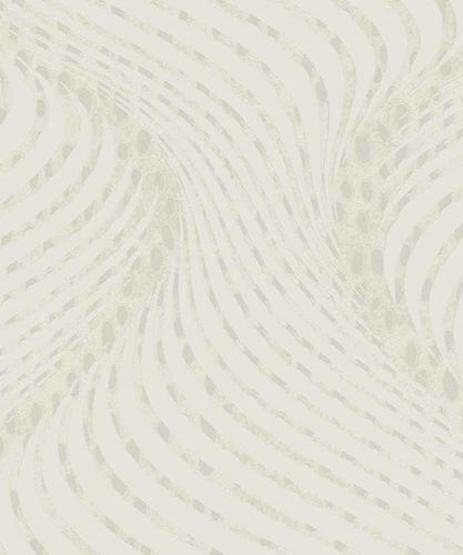Tapete Vlies Grafik Glanz-Effekt weiß Marburg 57902
