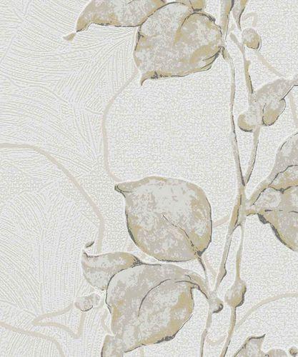 Tapete Vlies Floral Glanz-Effekt weiß Marburg 57943