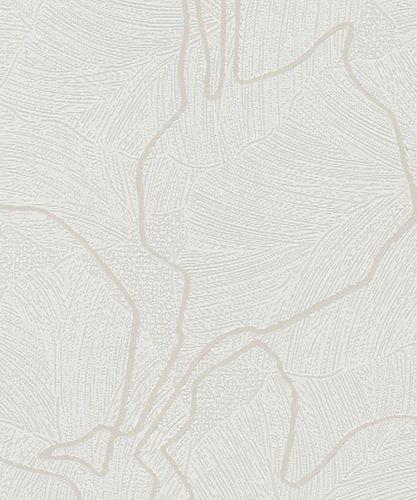 Tapete Vlies Floral Glanz-Effekt weiß Marburg 57948