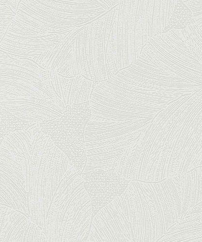Tapete Vlies Blatt Floral weiß Marburg 57953