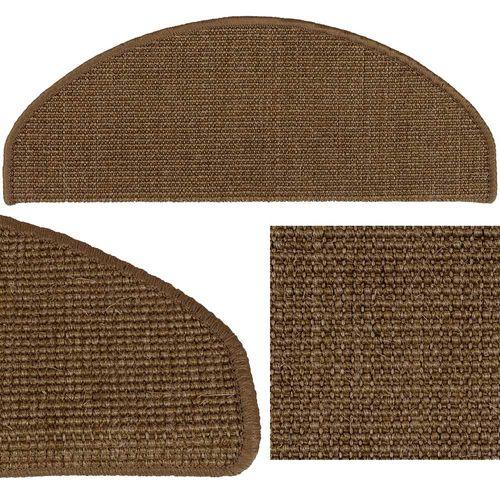 Sisal Stair Tread Mat Stair Cover Cappucino 22x56cm