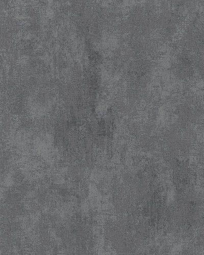 Vliestapete Uni Putzstruktur anthrazit schwarz Glanz 58007