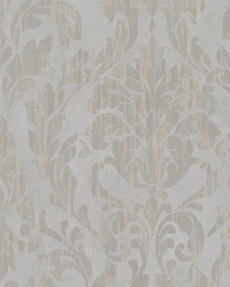Tapete vlies ornamente glanz grau taupe beige marburg 58034 for Tapete beige