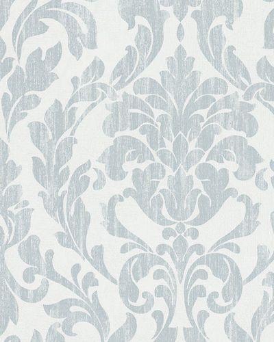 Tapete Vlies Ornamente Glanz weiß blau Marburg 58036
