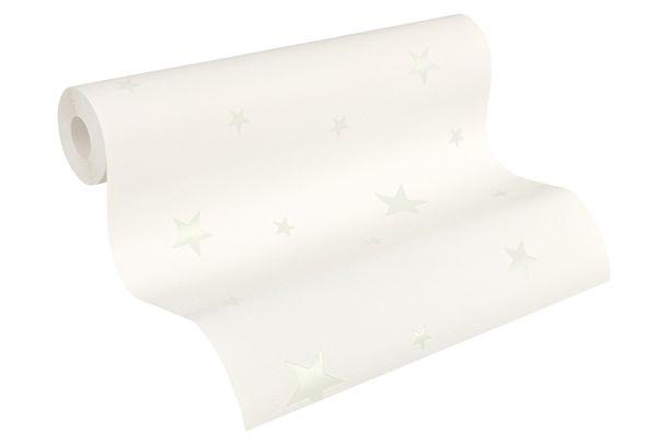 Vliestapete Sterne Glow In The Dark weiß 32440-1