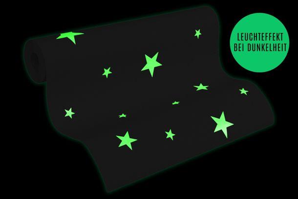 Tapete Leuchtend Leuchttapete Sterne beige 32440-4
