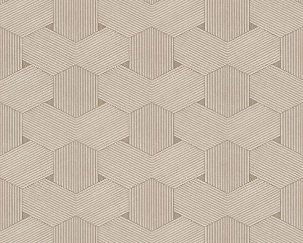 Vliestapete Waben-Optik Lutèce beige creme 32659-2