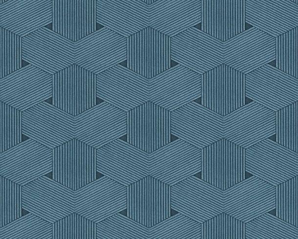 Vliestapete Waben-Optik Lutèce blau 32659-5
