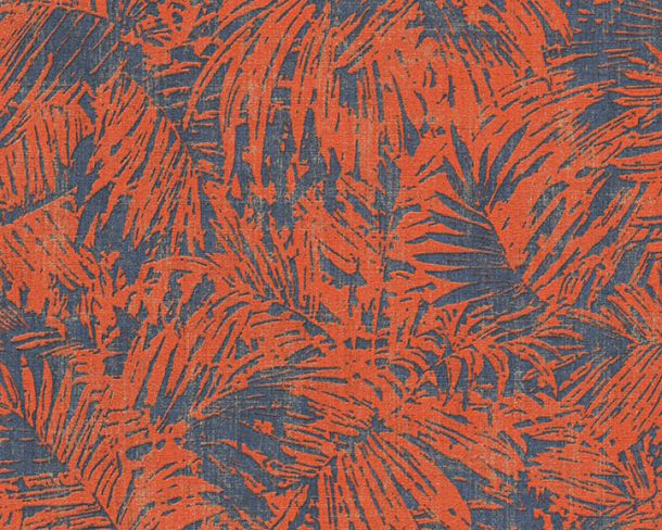 Wallpaper floral natural AS Creation blue copper 32263-4 online kaufen