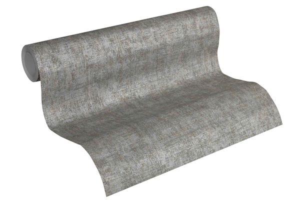Tapete Vlies Einfarbig dunkelbraun silber metallic 32261-4 online kaufen