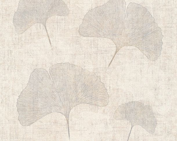 Wallpaper leaf natural AS Creation cream grey silver 32265-3 online kaufen