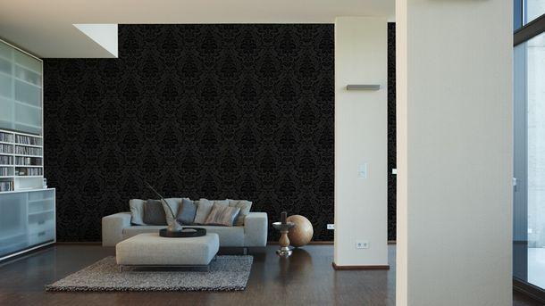 Vliestapete Barock floral anthrazit livingwalls 2554-26 online kaufen