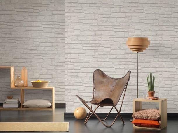 Vlies Tapete Steinoptik Naturstein grau weiß AS Creation 6623-16 online kaufen