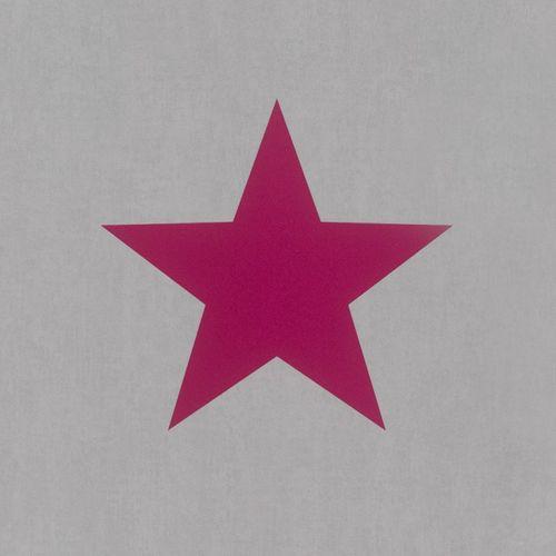 Tapete Kinder Stern Rasch grau rot 248111 online kaufen