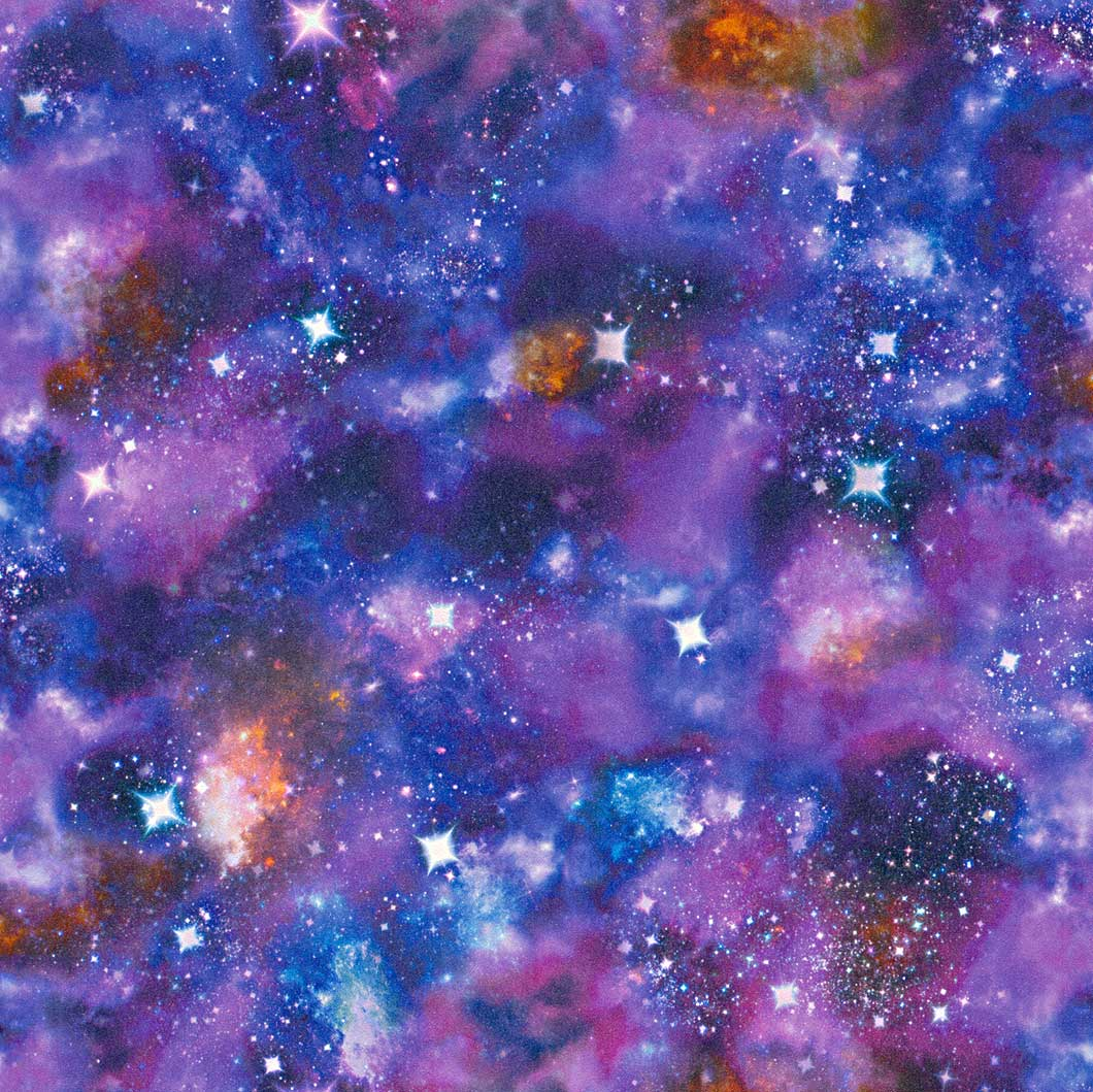 Kid S Wallpaper Space Stars Blue Glitter Rasch 273205
