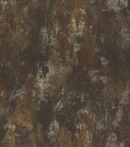 Tapete Vlies Patina anthrazit Glanz Rasch Deco Style 418224