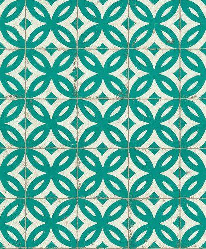 Vliestapete Kachel Fliese Rasch Pure Vintage grün 524727 online kaufen
