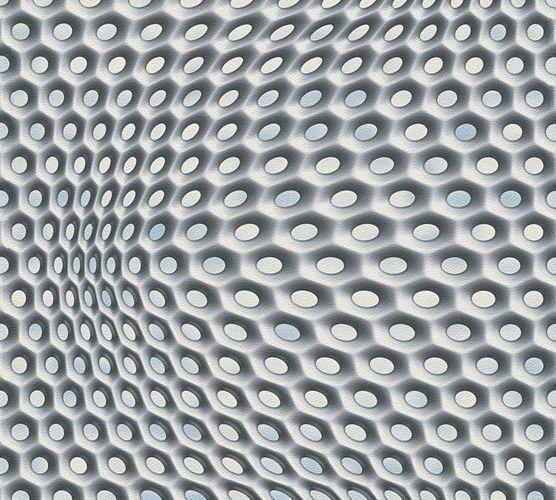 Mac Stopa Tapete Grafisch 3D-Optik Waben silber 32707-2