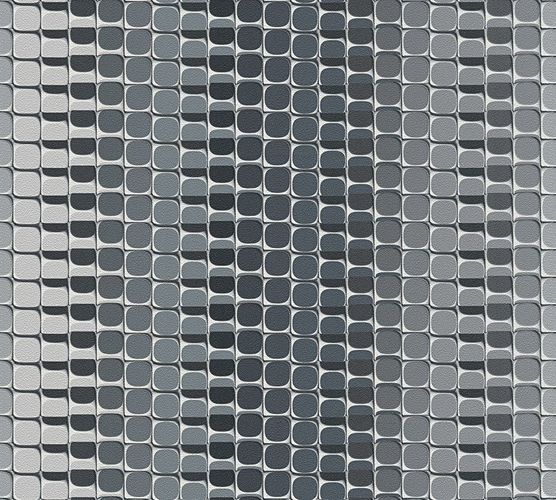 Mac Stopa Wallpaper striped graphics grey Gloss 32727-1 online kaufen