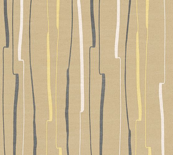 Wallpaper graphic striped beige yellow AS Creation 32796-2 online kaufen
