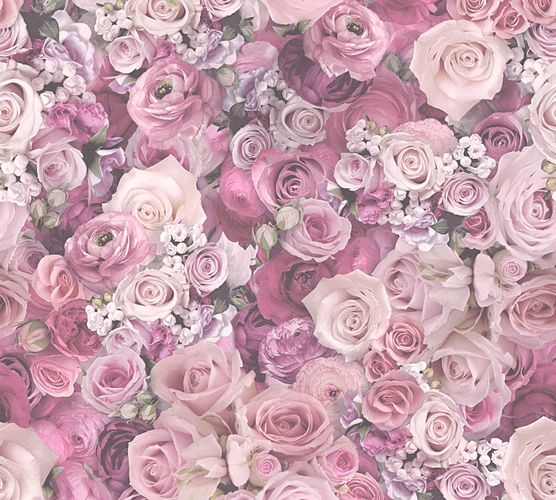 Wallpaper roses floral purple gloss AS Creation 32722-4 online kaufen