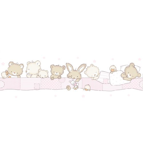Wallpaper Border kids animal Rasch Textil rose 330389 online kaufen