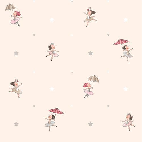Tapete Kinder Ballet Mädchen beige grau 330082