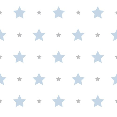 Wallpaper Kids star design Rasch Textil white blue 330129 online kaufen
