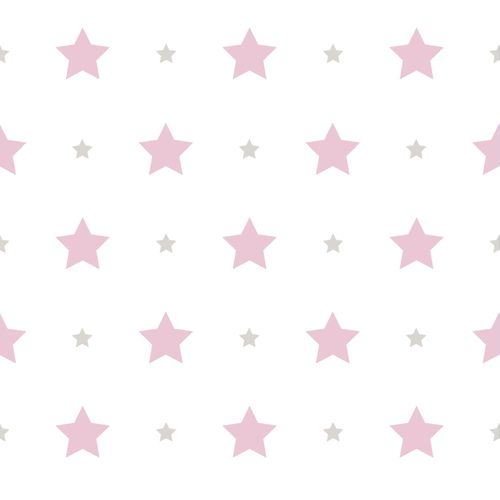 Wallpaper Kids star design Rasch Textil white pink 330136 online kaufen
