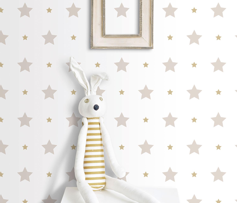Tapete kinder sterne stern rasch textil wei beige 330143 - Sterne tapete kinderzimmer ...