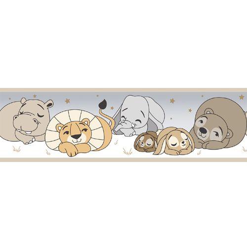 Tapetenborte Bordüre Tier Baby braun 330426