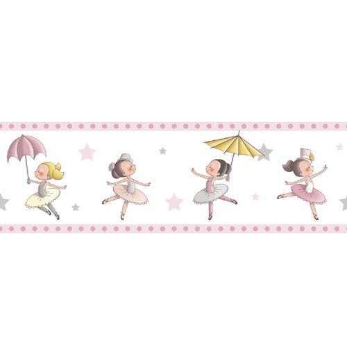Tapetenborte Bordüre Ballerina Rasch Textil pink 330440 online kaufen