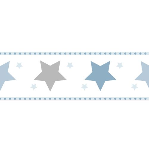 Wallpaper Border stars World Wide Walls white blue 330495 online kaufen