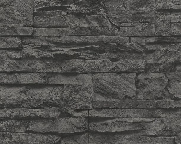 Wallpaper natural stone design black AS Creation 7071-23