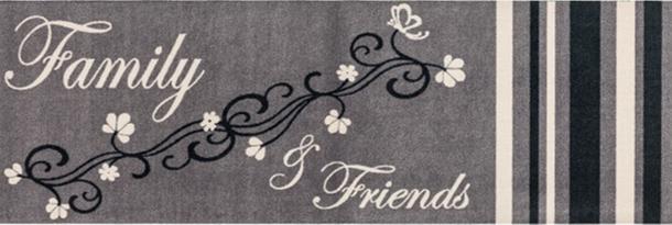 Küchenläufer Schmutzfang Cardea Family grau 150x50 cm online kaufen