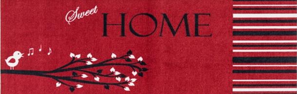 Küchenläufer Schmutzfang Cardea Sweet Home rot 150x50 cm online kaufen
