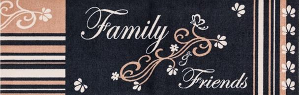 Küchenläufer Schmutzfang Cardea Sweet Home schwarz beige 150x50 cm online kaufen