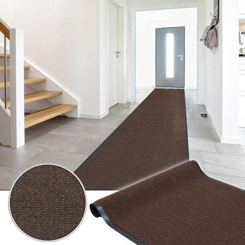 Dirt Barrier Runner Rug Hard Wearing Non-Slip Mat Brown Basic Clean 90cm online kaufen