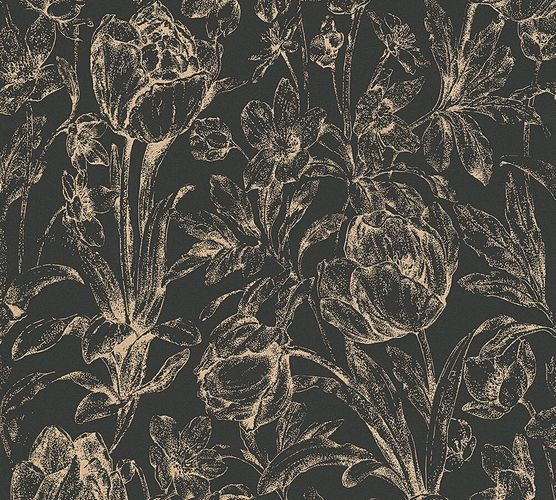 Wallpaper floral gloss gold AS Creation 32985-2