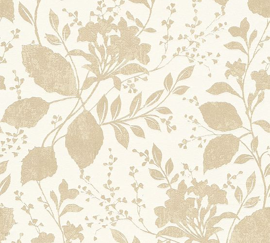 Wallpaper floral gloss beige AS Creation 32986-1