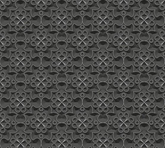 Tapete Vlies Ornamente schwarz AS Creation 32983-1