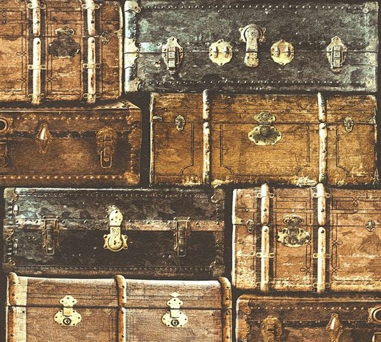 Tapete Vintage Koffer braun AS Creation 33983-2