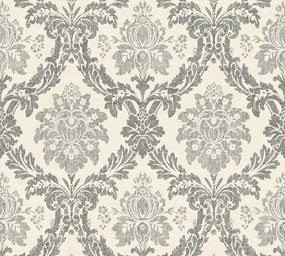 Tapete Vlies Barock Floral grau AS Creation 33605-1