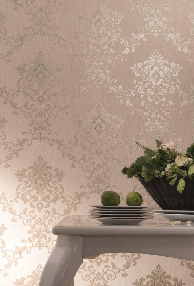 Tapete vlies floral ranke graubeige metallic marburg 58224 for Tapeten katalog bestellen